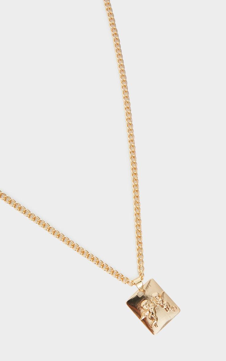 Gold Cherub Pendant Necklace 3