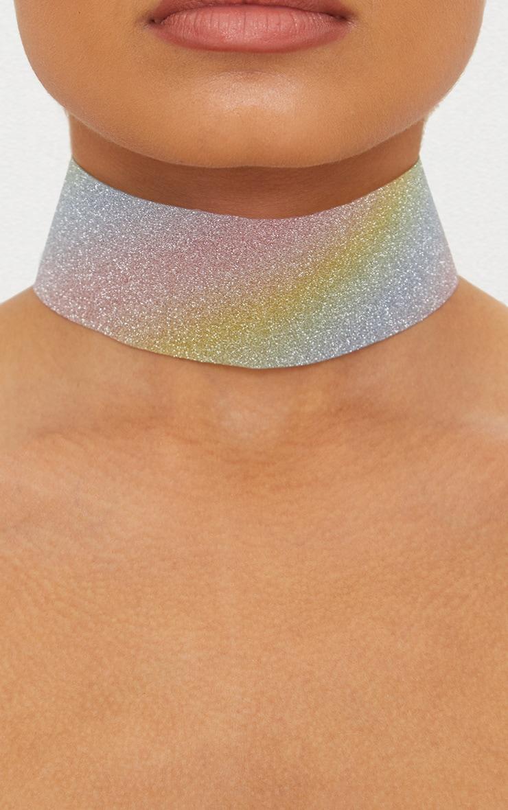 Rainbow Glitter Choker 1