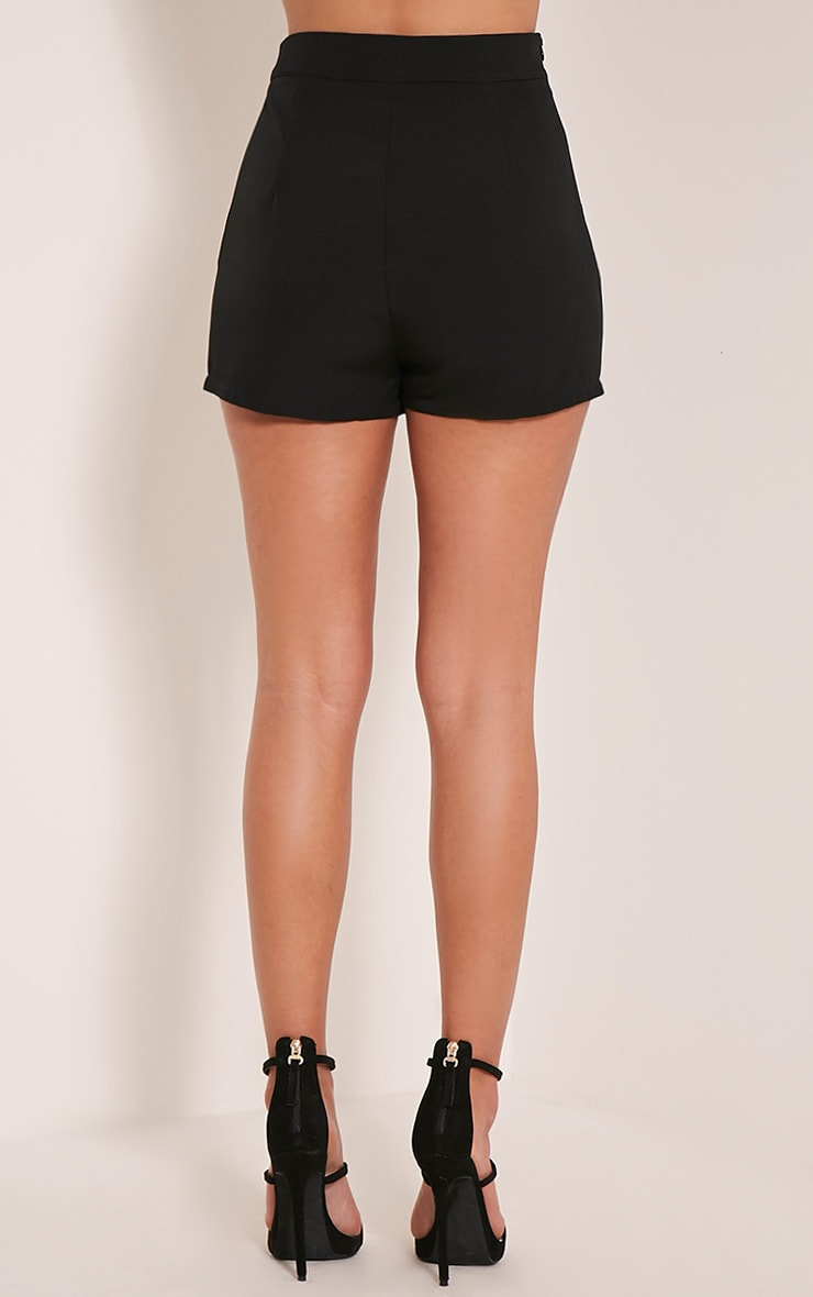 Aly Black Lace Up Hotpants 5