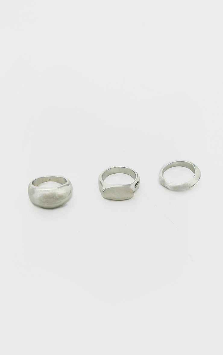 Silver Multi Ring Pack 3