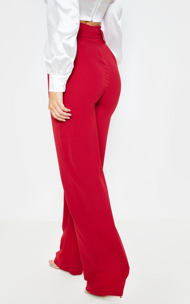 Scarlet Lightweight Woven Belted Wide Leg Trouser 4