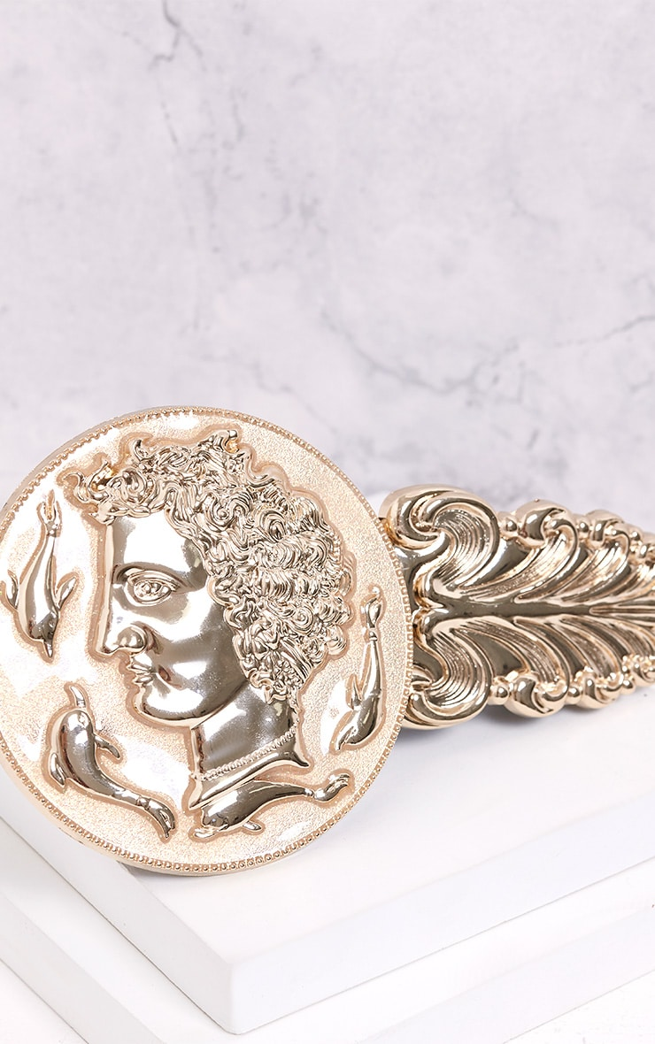 Alexius Gold Oversized Coin Detail Belt 5