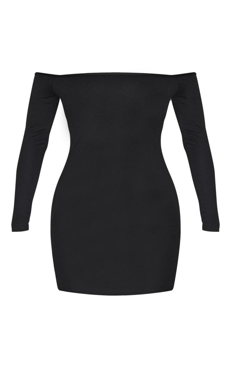 Black Bardot Bodycon Dress 1