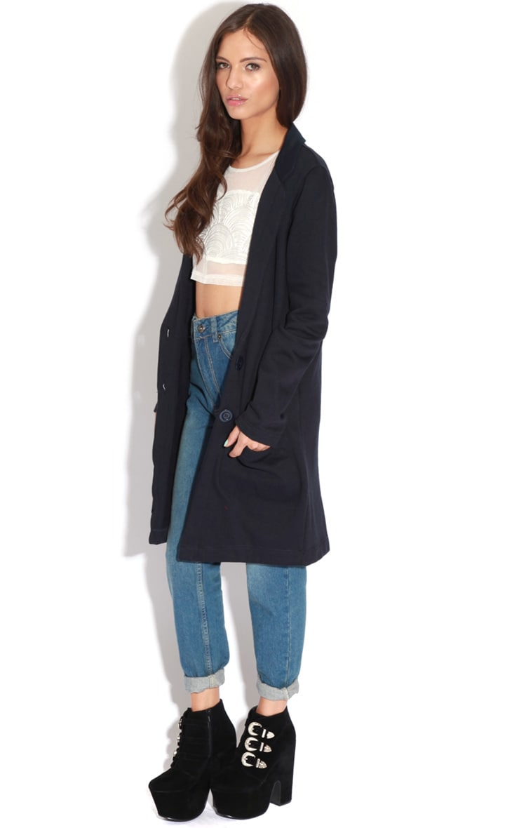 Kirsty Navy Long Oversized Blazer 4