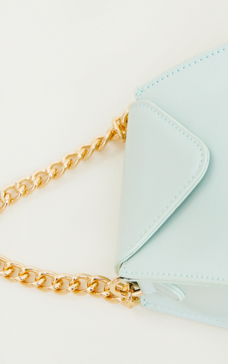 Sage Mini Envelope Gold Chain Grab Bag 2