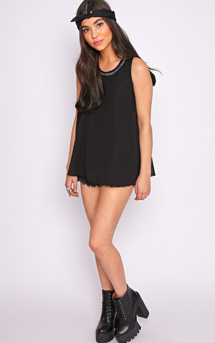 Lizzy Black Studded Swing Vest  4