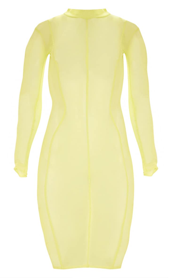 Plus Lime Second Skin Sheer Mesh Midi Dress 3