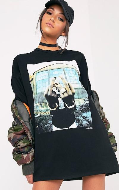 746ce0c8236 Tupac Black T-Shirt Dress