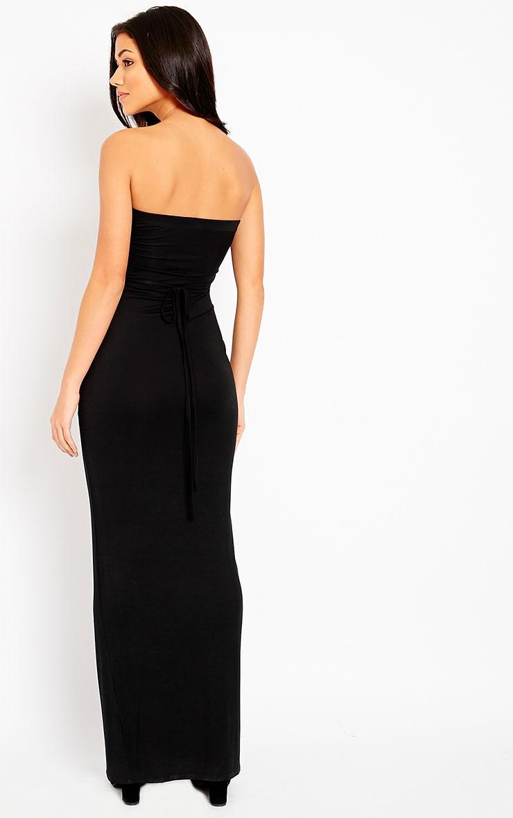 Basic Black Bandeau Maxi Dress 4