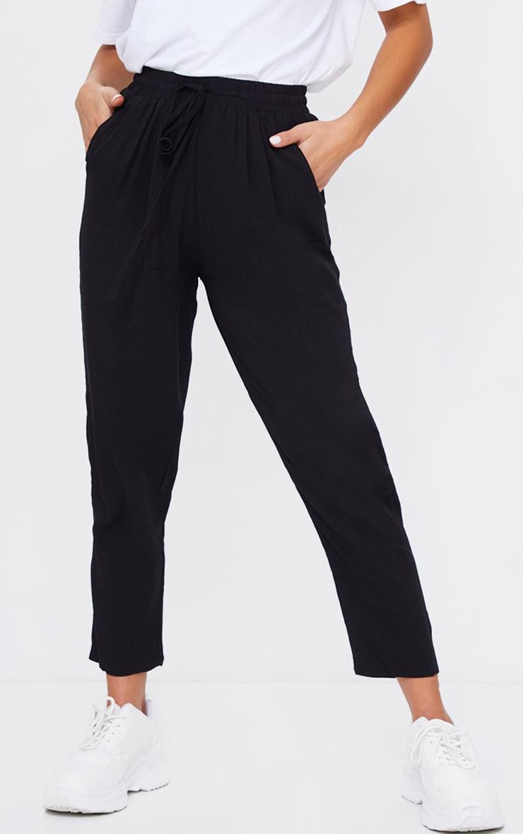 Petite Black Casual Trousers 2