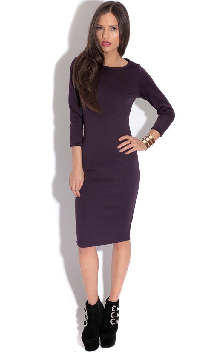 Macy Bergundy Bodycon Dress-18 3