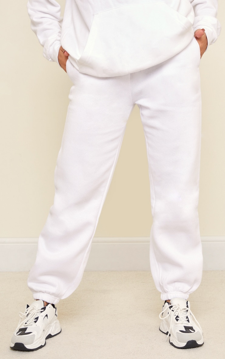 White Sweat Pant Joggers 2