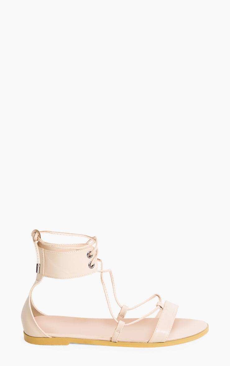 Kassia Nude Lace Up Sandals 3