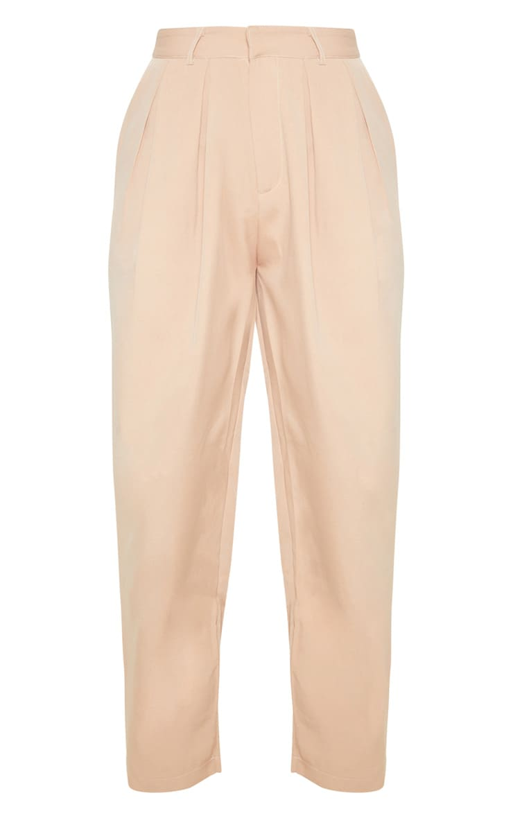 Camel Woven High Waisted Cigarette Pants  3