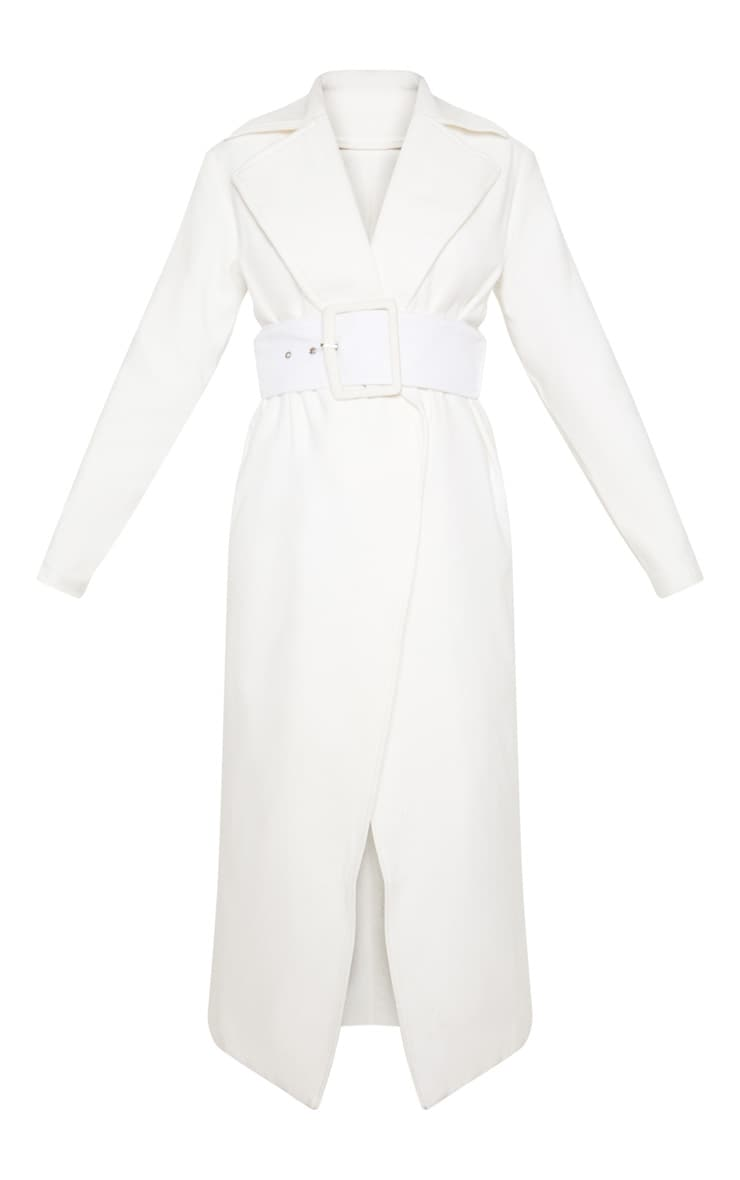 Tall Cream Belted Coat  3