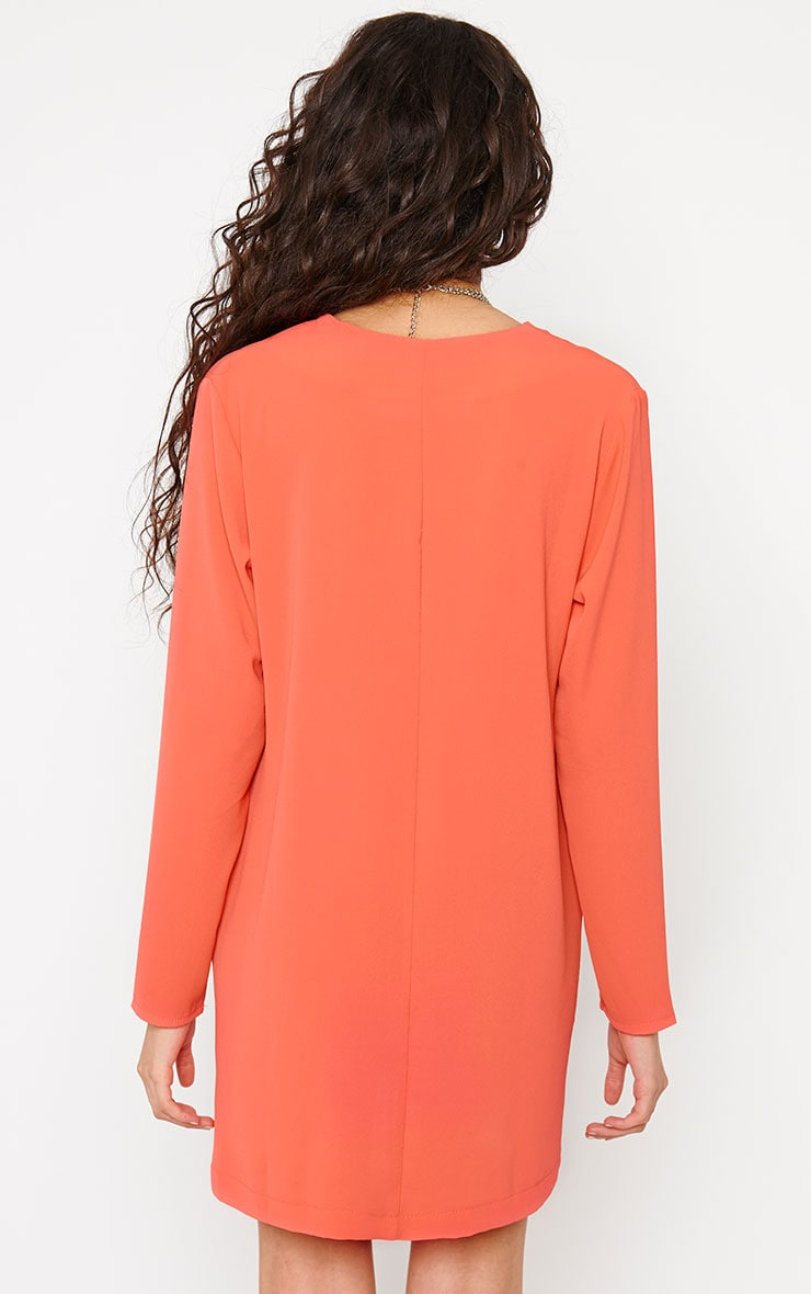 Jemima Coral Loose Fit Blazer Dress 2