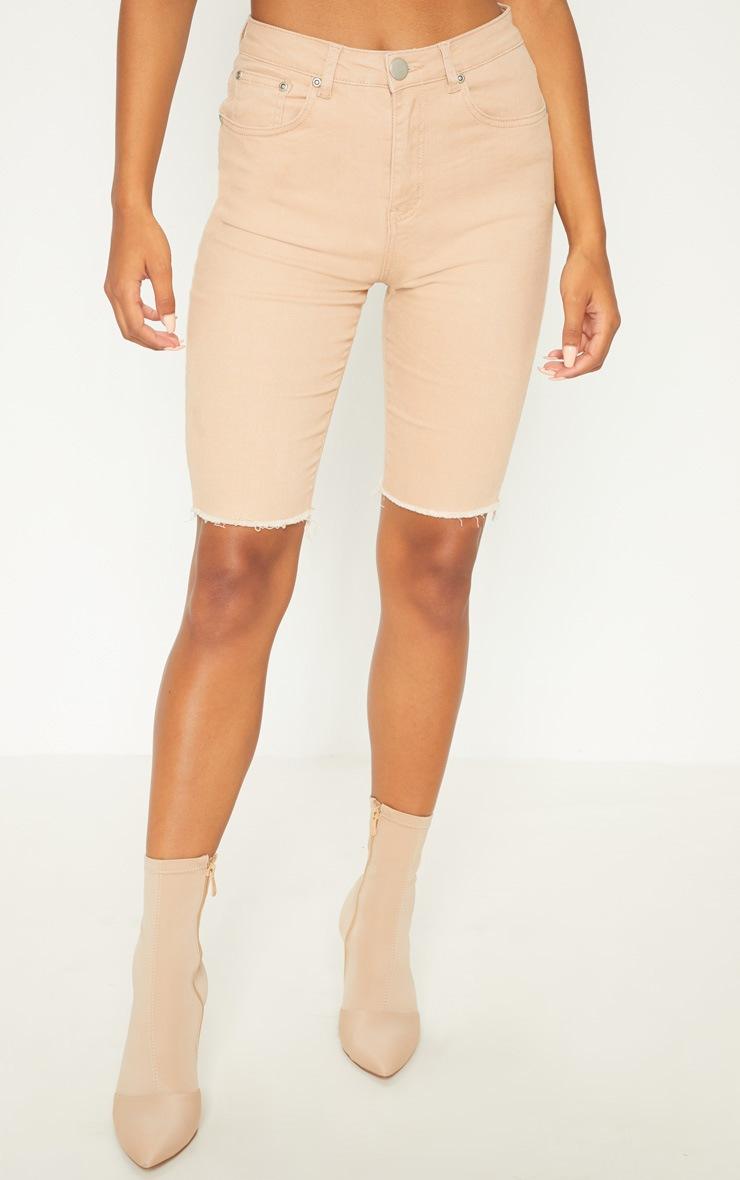 Nude Skinny Long Shorts 2