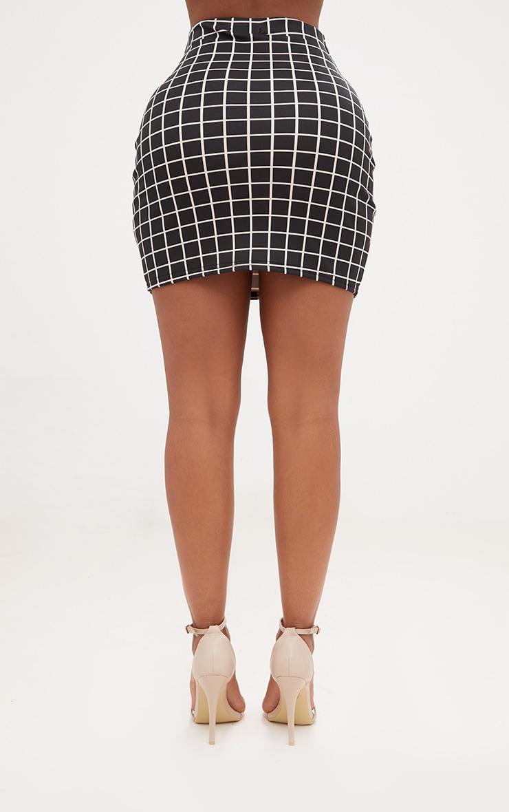 Shape Black Check Mini Skirt Co-ord 4