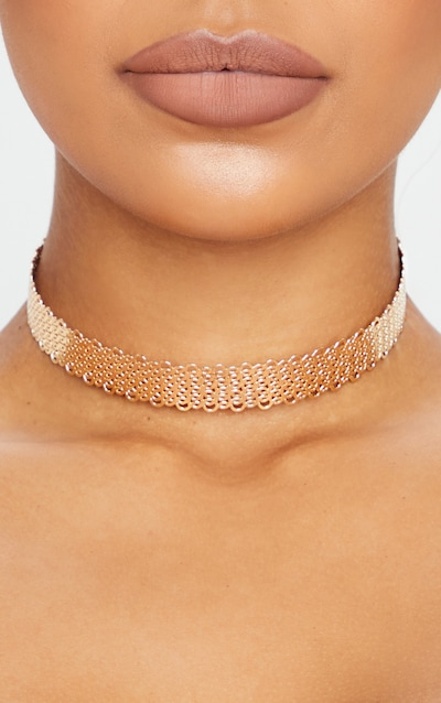Gold Solid Rope Choker