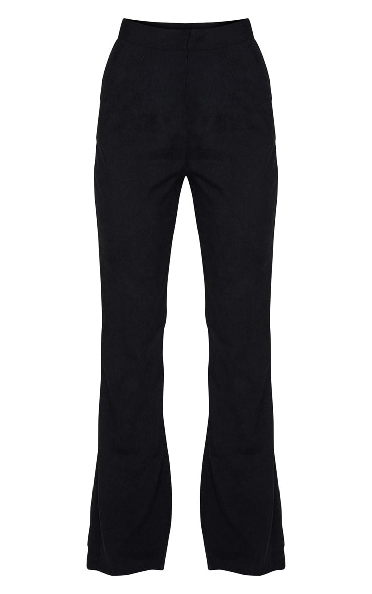 Black Cord High Waisted Wide Leg Trouser 5
