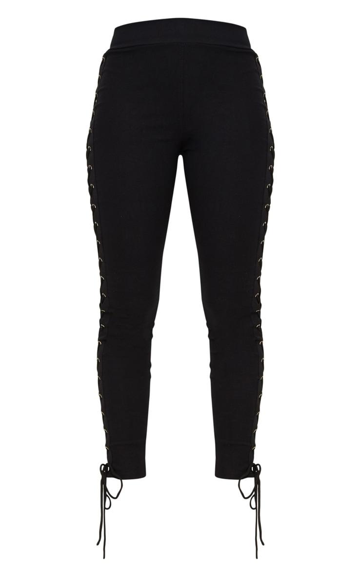 Black Lace Up Side Eyelet Trouser 3