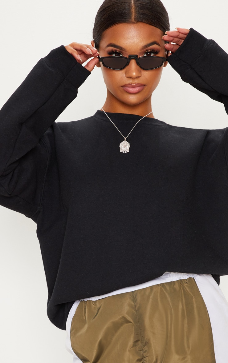 Black Ultimate Oversized Sweater 5
