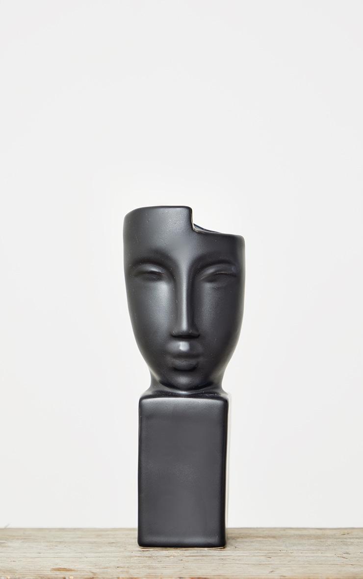 Black Masquerade Sculpture Vase 4
