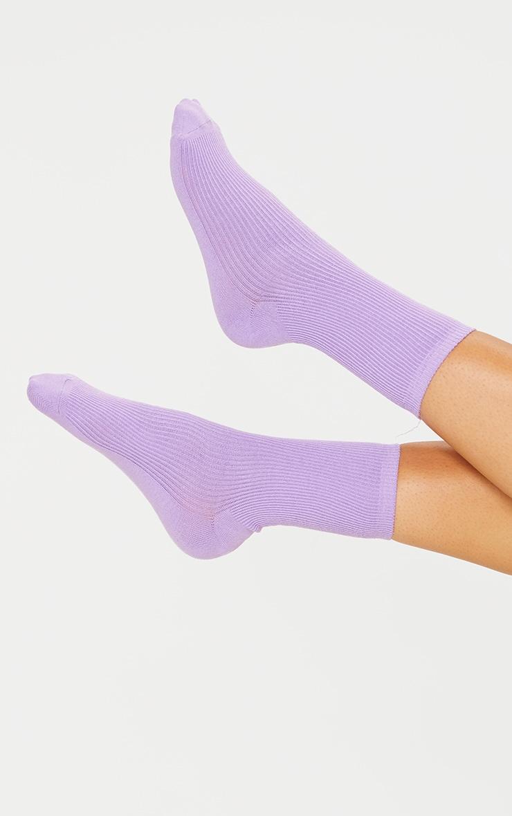 Lilac Sport Socks 1