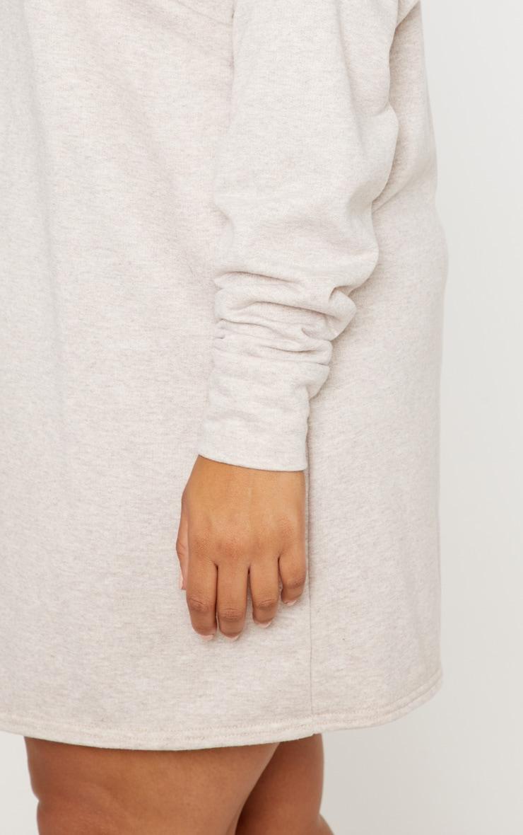 Plus Stone Oversized Sweater Dress 5