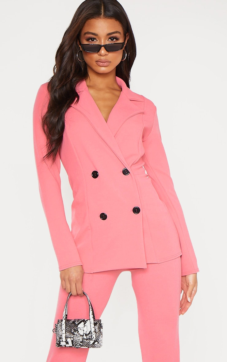 Coral Double Breasted Blazer  1