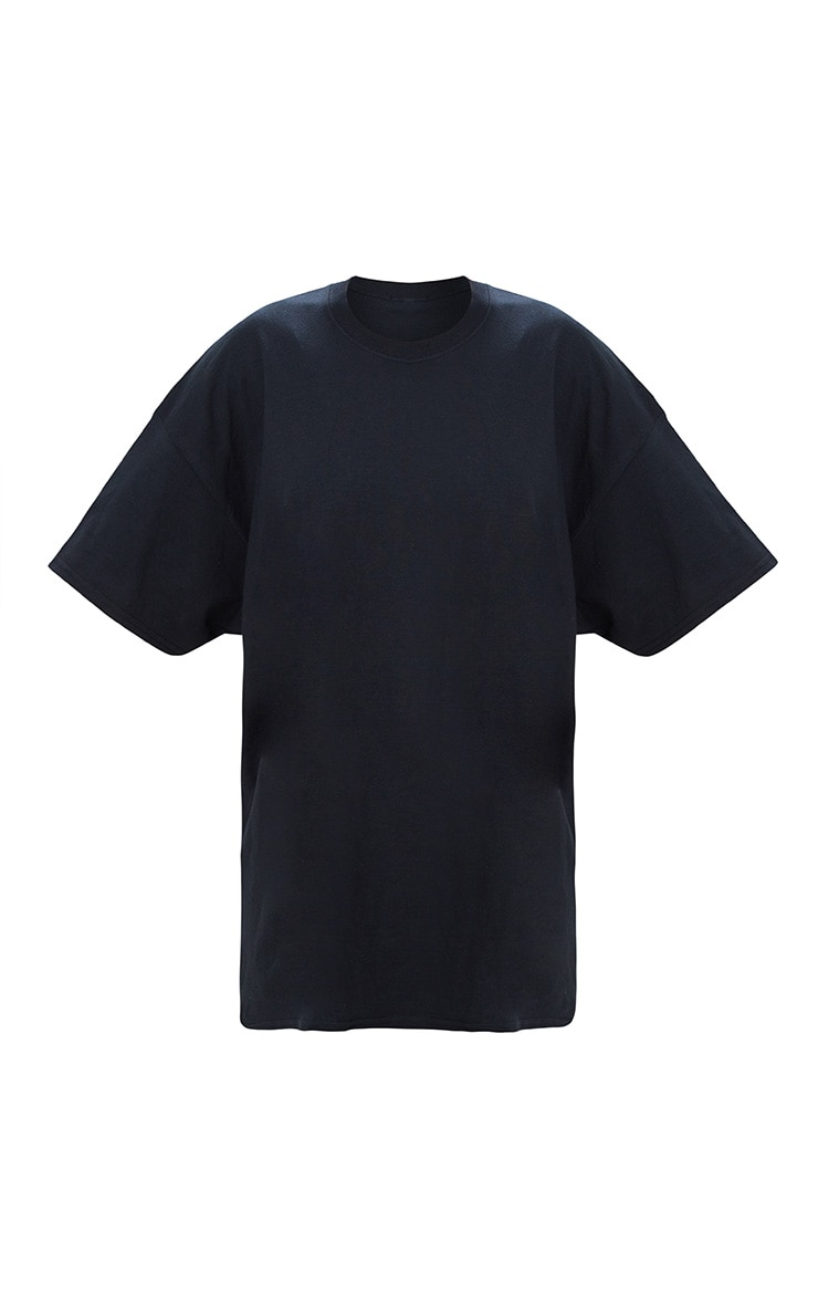 Black Oversized Boyfriend T Shirt  3