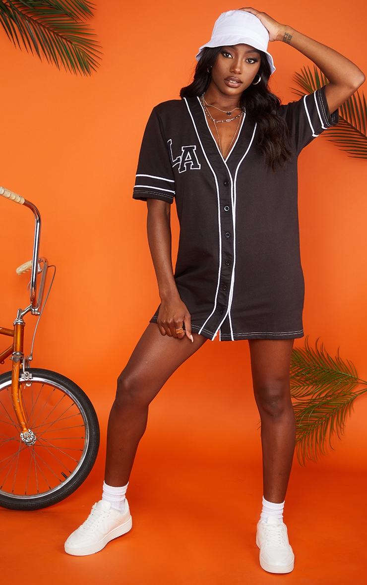 Black LA Jersey Dress 3