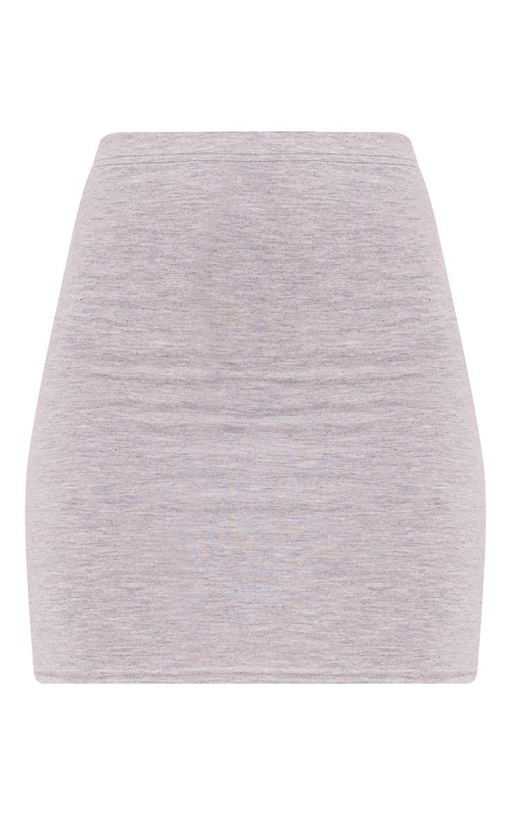 Basic minijupe en jersey grise 3