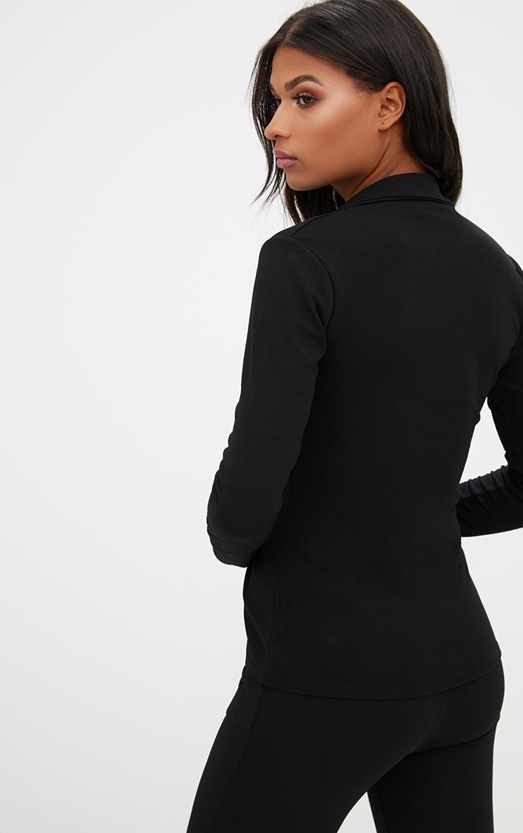 Black Tie Front Blazer 2