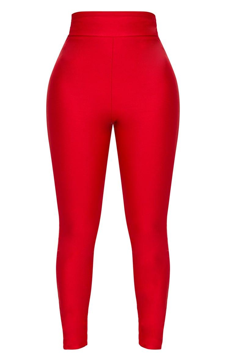Shape Red Slinky Disco High Waisted Leggings 3