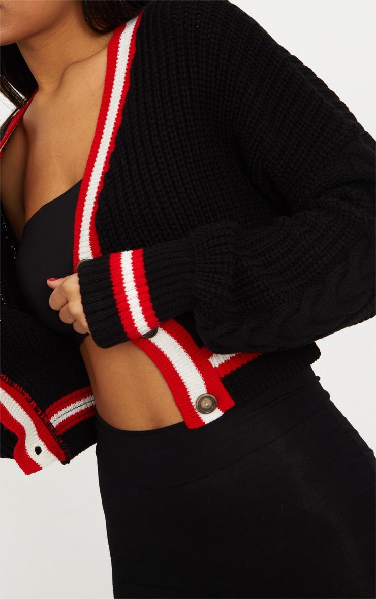 Black Crop Extreme Sleeve Cardigan 5