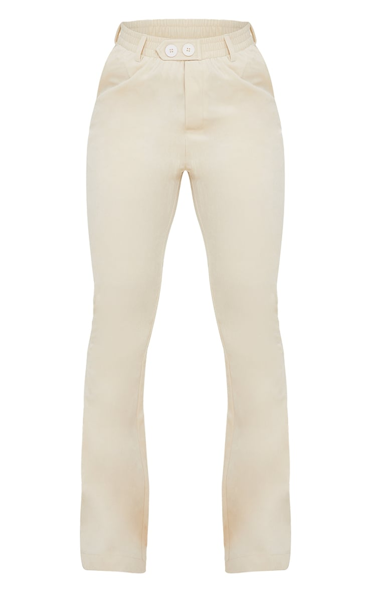 Cream Cord Flared Trousers 5