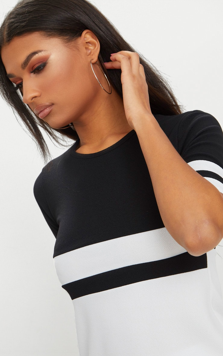 Monochrome Sports Stripe T Shirt  4