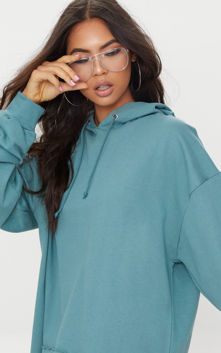 Mineral Blue Oversized Hoodie Dress 5