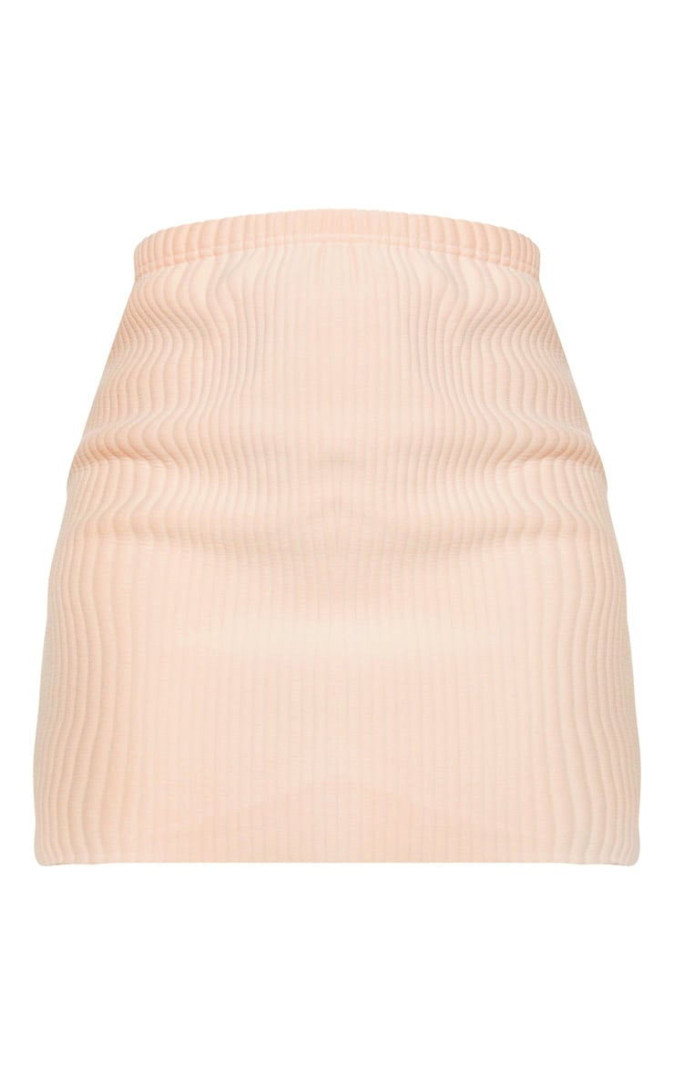 Blush Jumbo Rib Mini Skirt 3