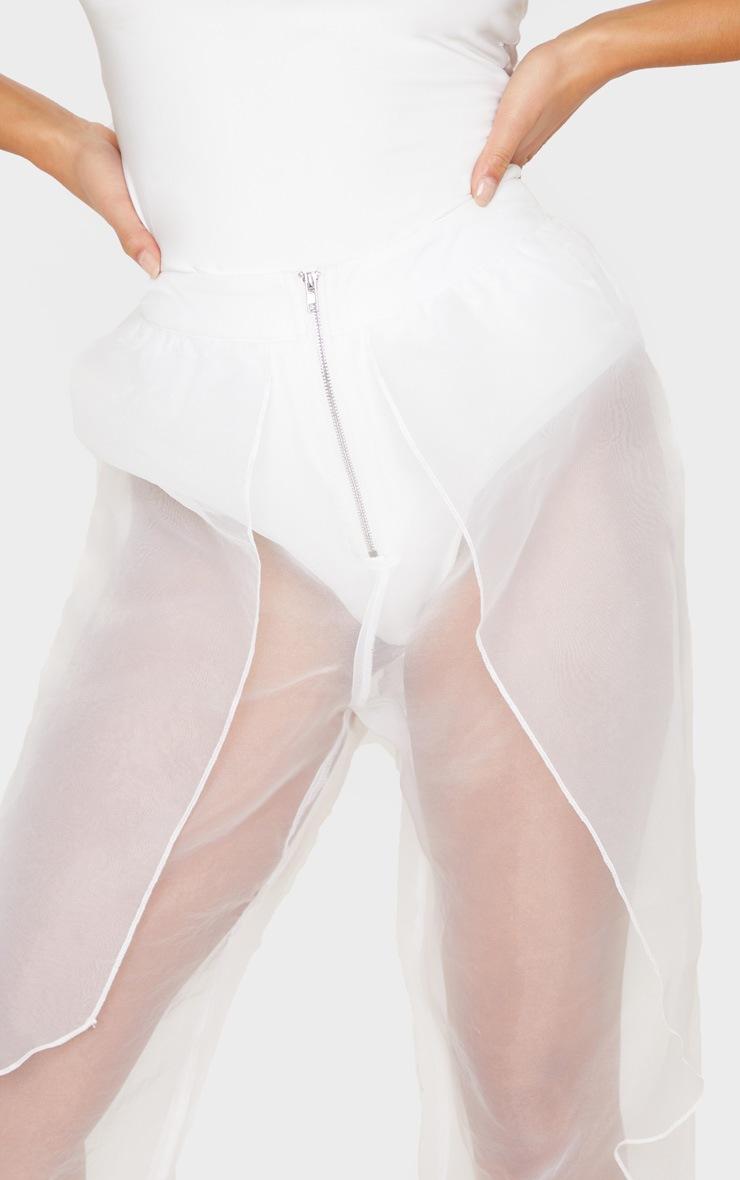 Petite Cream Organza Balloon Pants 5