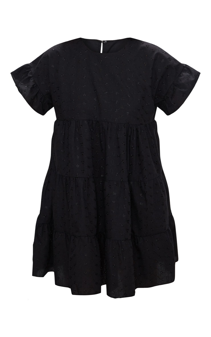 Black Broderie Analgise Smock Dress 1