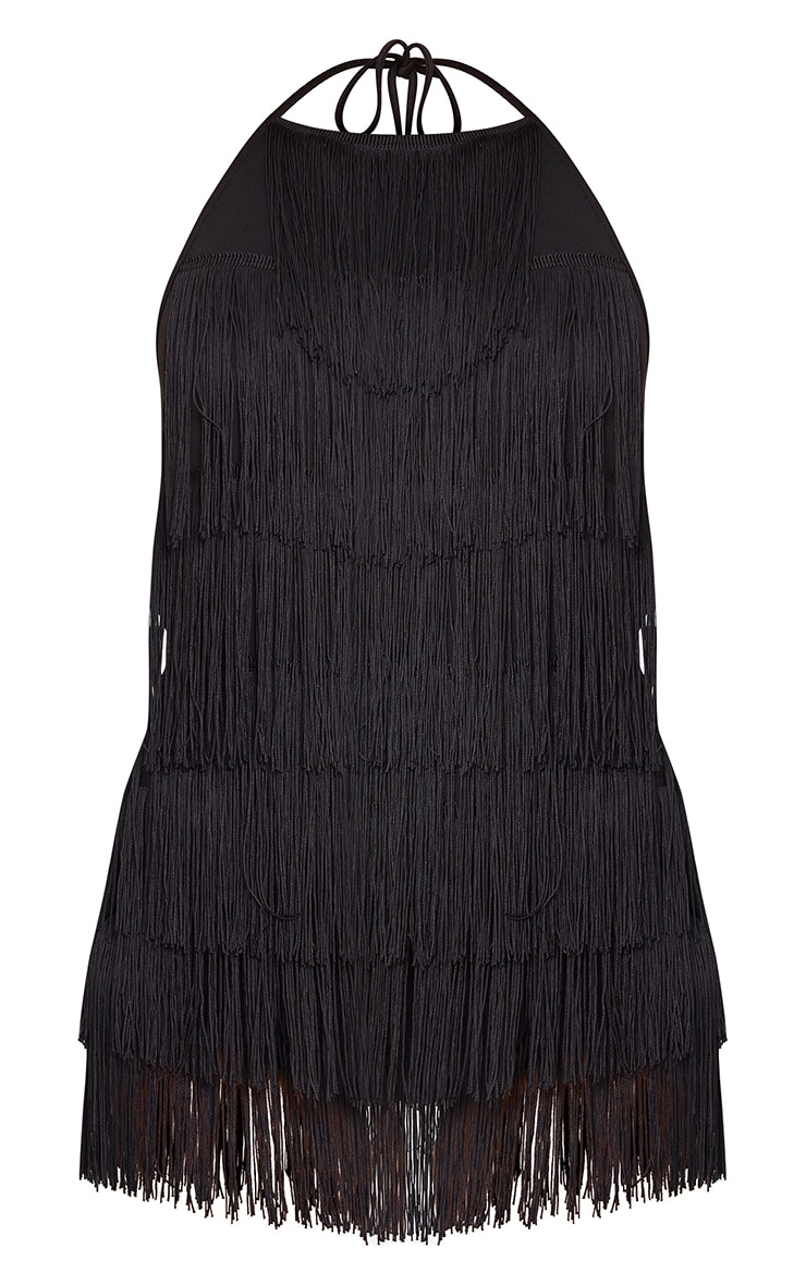 Kristine Black Tassel Playsuit  3