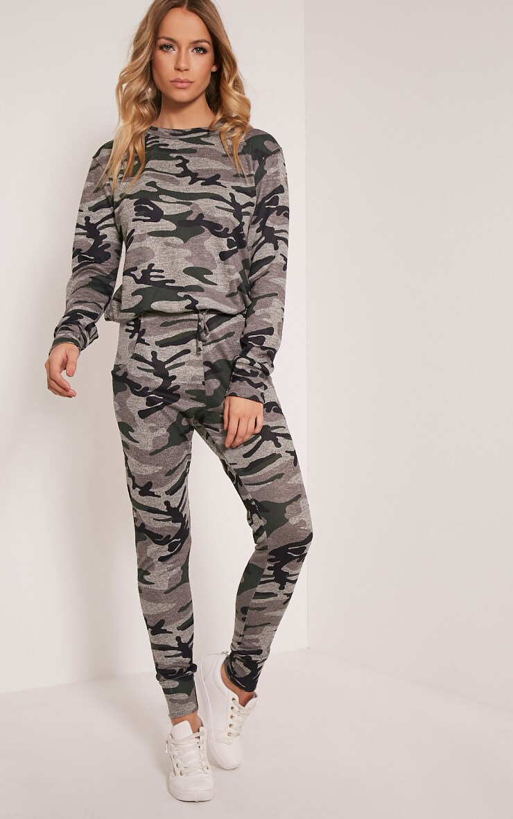 Grechin Green Camouflage Tracksuit Sweatshirt 5
