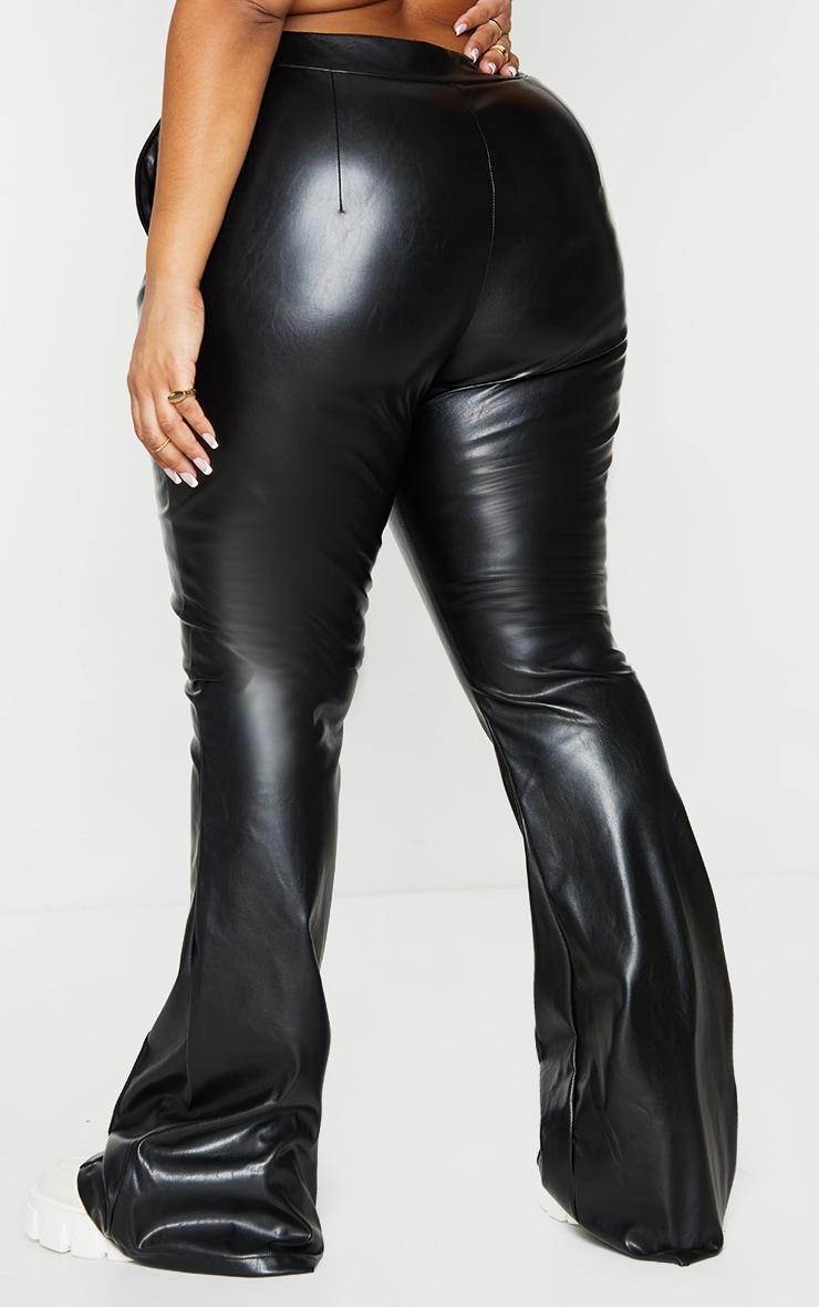 Plus Black PU Seam Detail Trousers 3