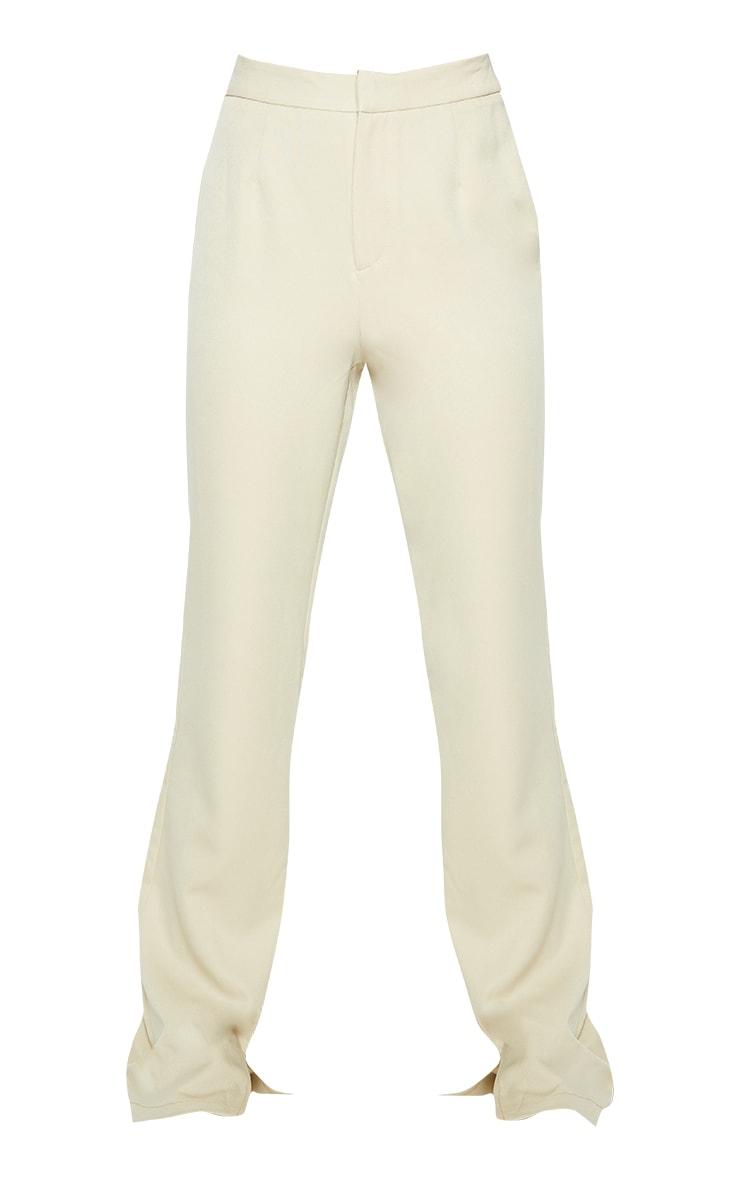 Sage Green Split Hem Wide Leg Suit Trousers 5