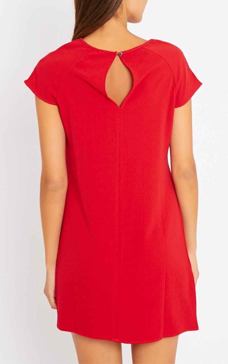 Sabra Red Waffle Dress 2