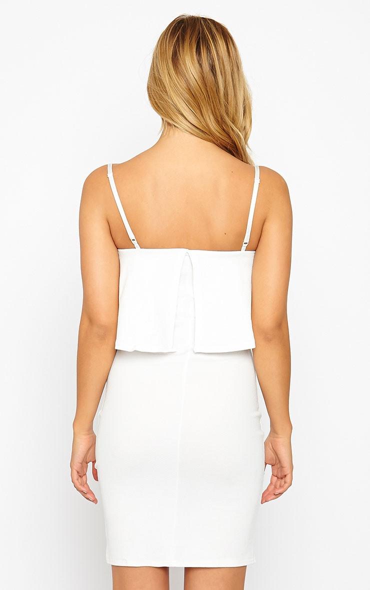 Hari Cream Frill Front Mini Dress 2
