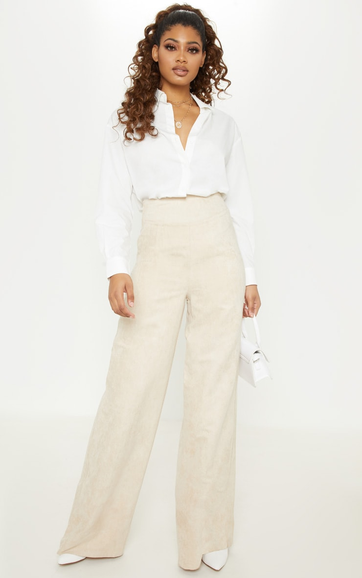 Tall Stone Faux Suede Wide Leg Pants 1