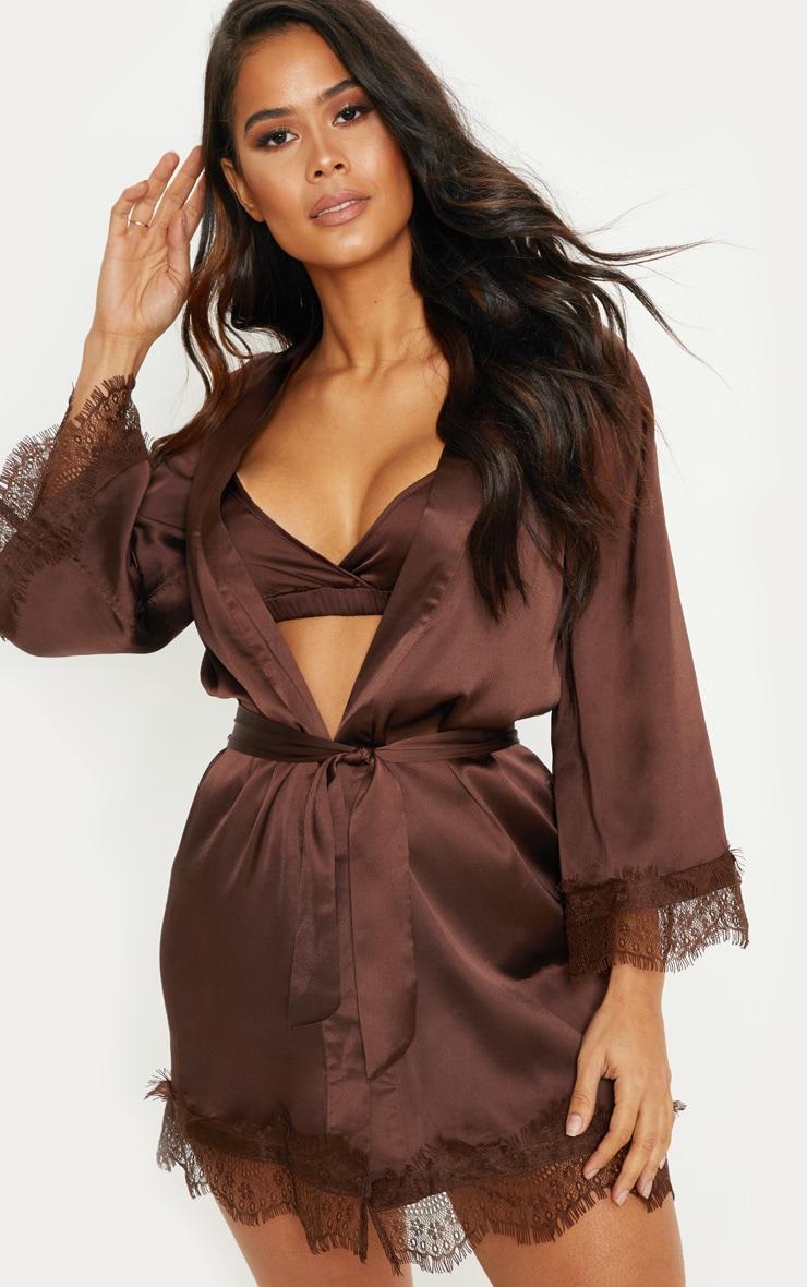 Chocolate Lace Robe 1